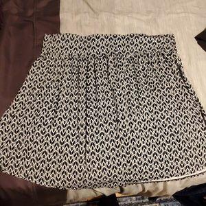 Lane Bryant A-line patterned skirt